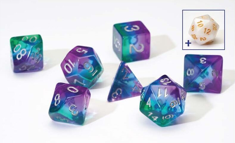 Sirius Dice RPG Dice Set: Blue Aurora