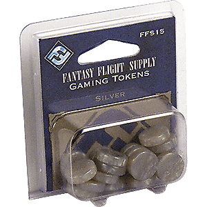 Fantasy Flight Supply: Gaming Tokens - Silver - Lulu Games