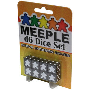 Meeple d6 Dice Set: Black