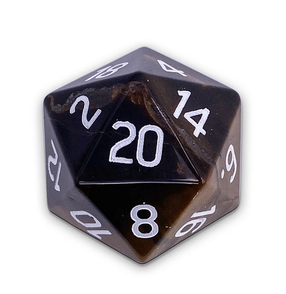 Norse Foundry Gemstone Dice: Tiger's Eye 30mm Boulder