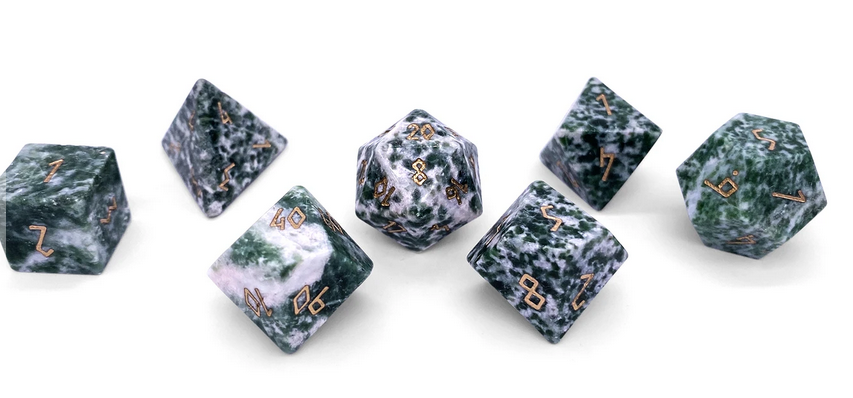Norse Foundry Gemstone Dice: Tree Agate