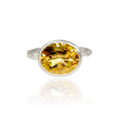 Organic Textured Citrine Ring