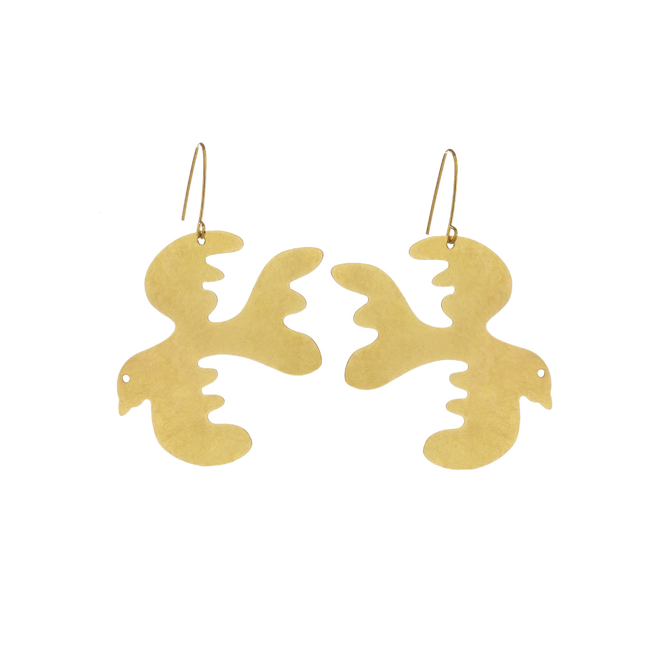 Brass Free as a Bird Earrings Large