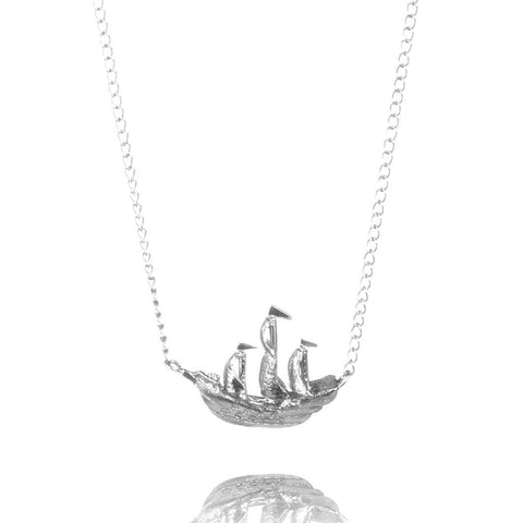Silver Galleon Pendant