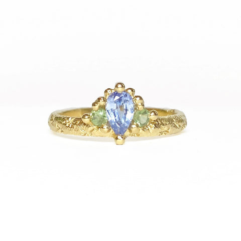 Blue & Green Mega Crown Ring