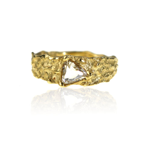 Molten Fairtrade 18ct Gold Diamond Ring