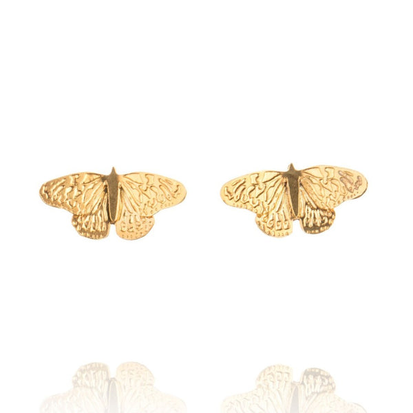 Golden Butterfly Studs - Made To Order