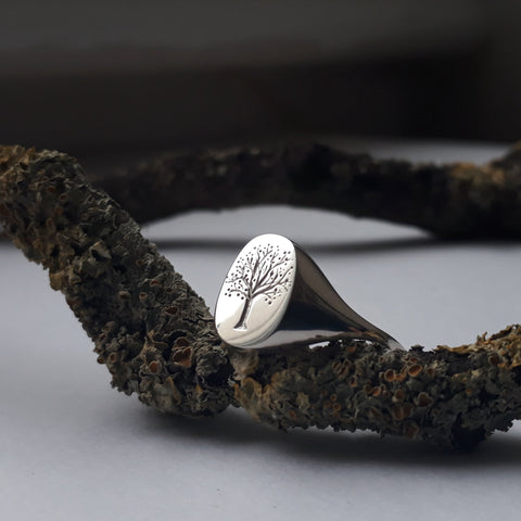 Tree Signet Ring