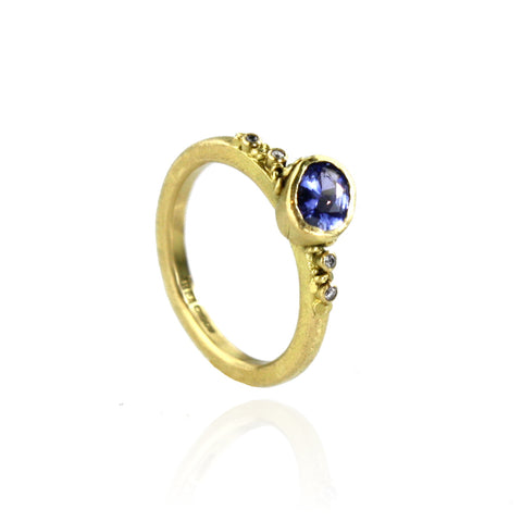 Periwinkle Blue Sapphire Ring - Made To Order