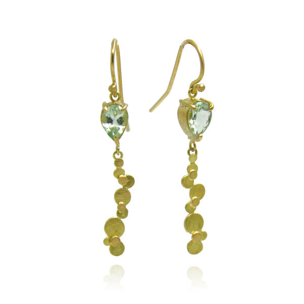 Speckle Pear Drop Beryl Earrings