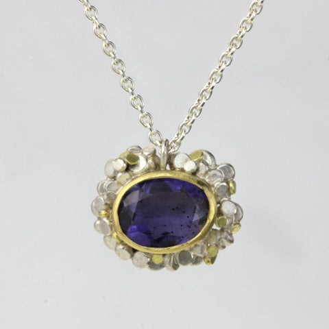 Speckled Iolite Pendant - Made To Order