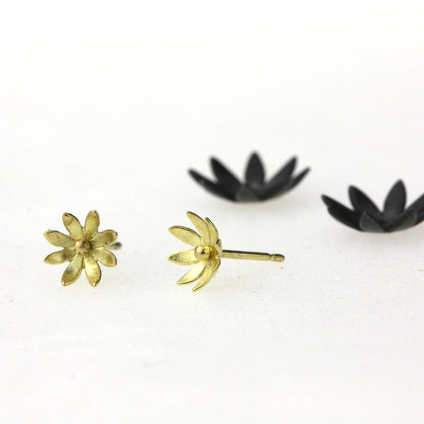 Small Stacking Waterlily Studs - Made To Order