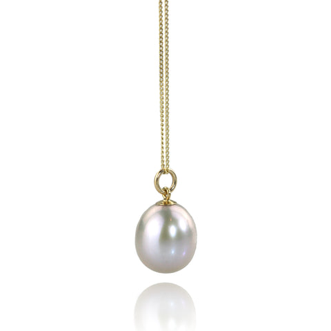 Dainty Pearl and 9ct Gold Pendant