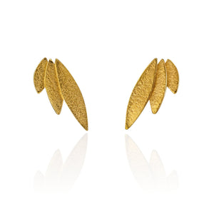 Icarus Gold Stud Earrings