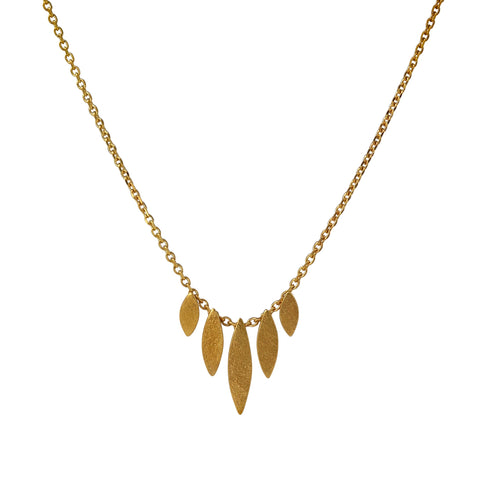 Gold Icarus Graduated Necklace