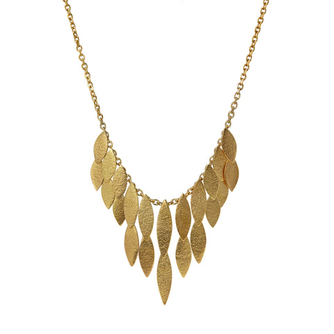 Large Gold Icarus Waterfall Necklace