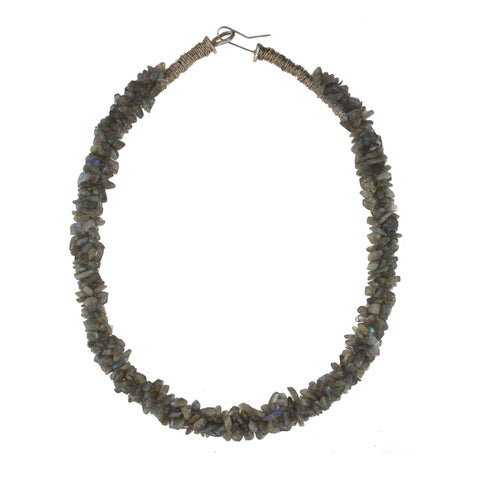 Beaded Labradorite Collar Necklace
