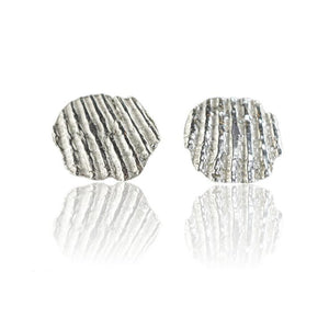 Silver shell fragment studs
