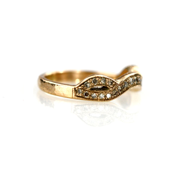 Roma 9ct Rose Gold and Grey Diamond Ring