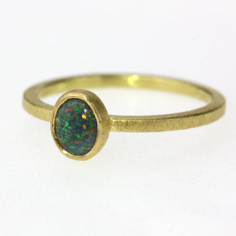 Dainty Oval Opal Ring