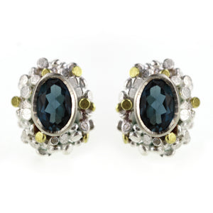 Speckled Topaz Studs - Made To Order