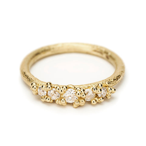 Dainty Diamond Granule Ring