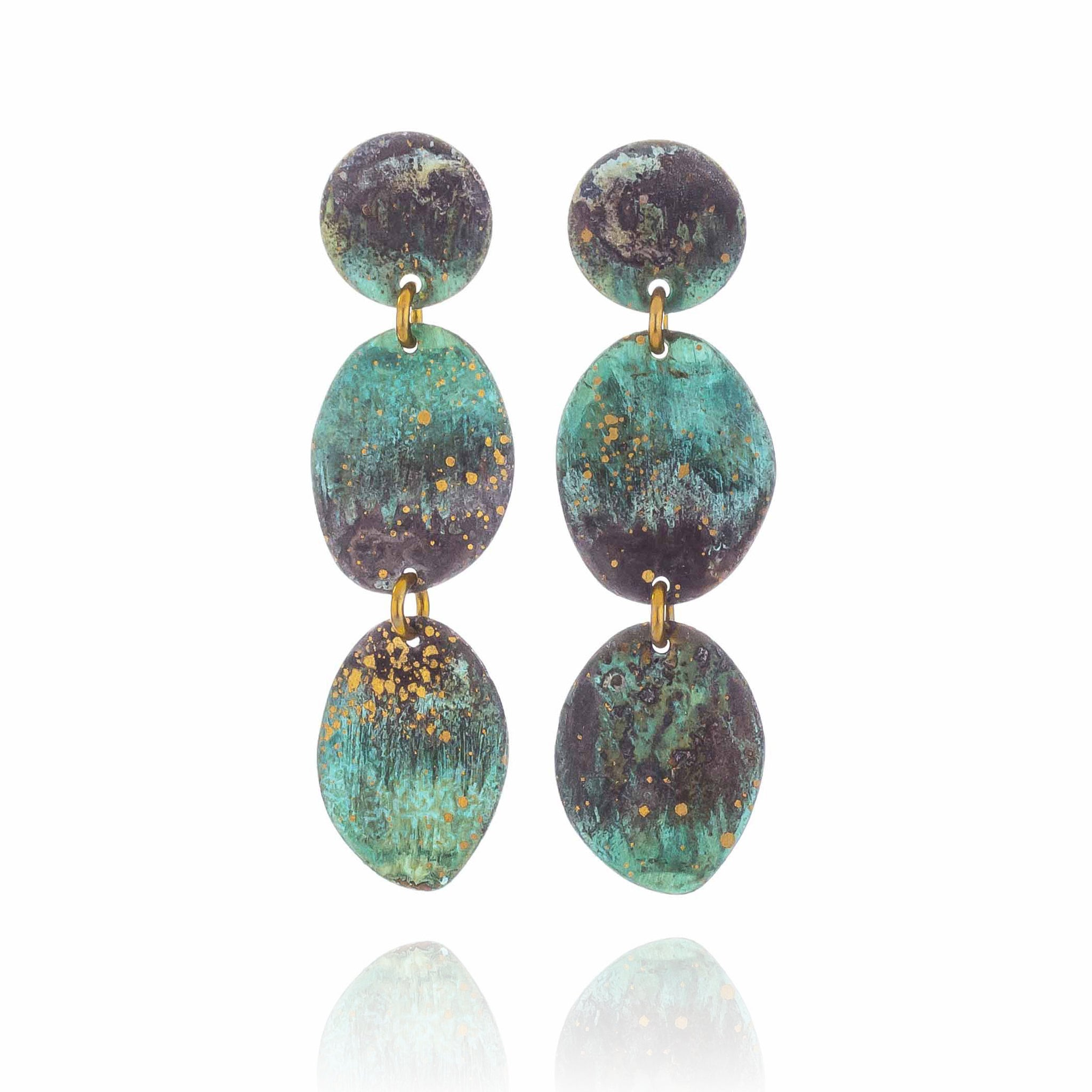 Forest Pebbles Statement Earrings - Made To Order
