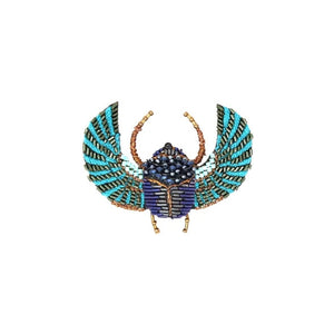 Egyptian Scarab Brooch Pin