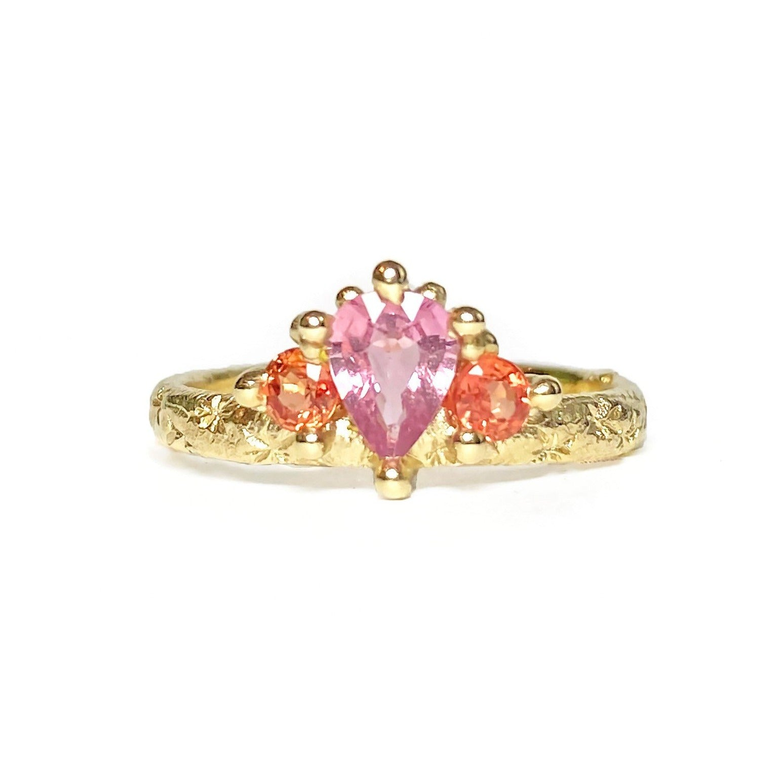 Pink & Orange Mega Crown Ring
