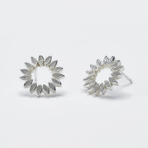 Petal Halo Studs - Made To Order