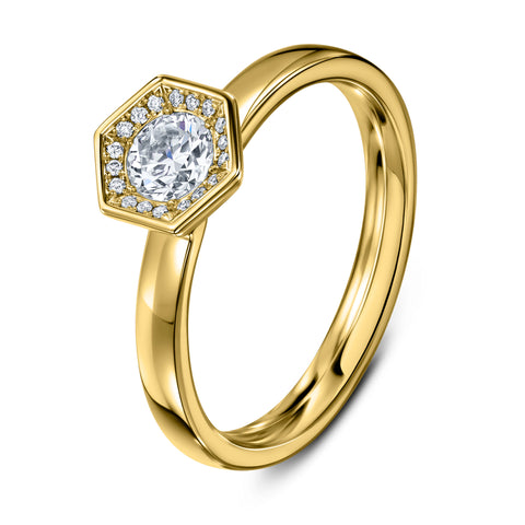 Chapiteau Diamond & 18ct Yellow Gold Ring
