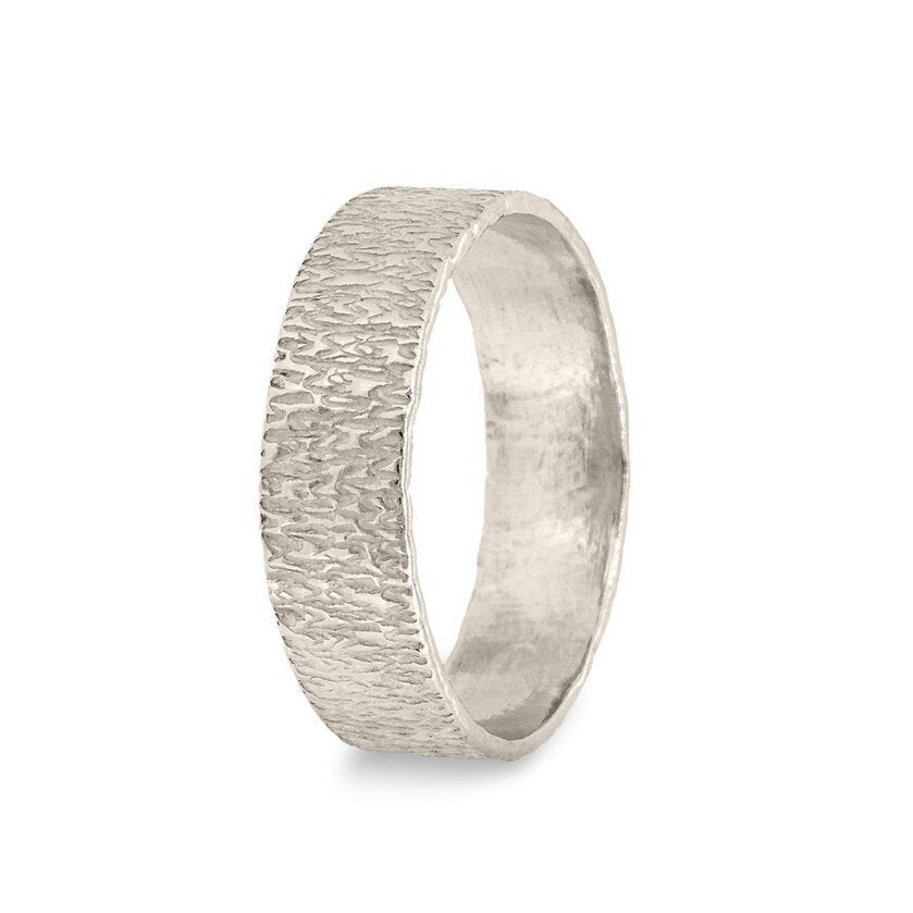 Hand-Textured Silver Ring