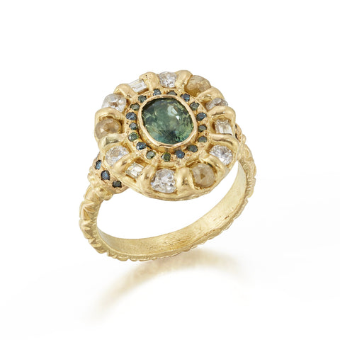 Celeste Treasury 'One of a kind' Double Halo Ring