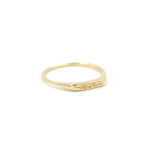14ct Gold Rosemary Petite Signet Ring