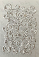 Doodled Spirals - A6 unmounted rubber stamp sheet