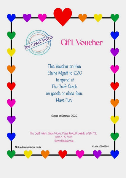Print Your Own Gift Voucher