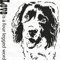 Sprocker - Spaniel Art Stencil