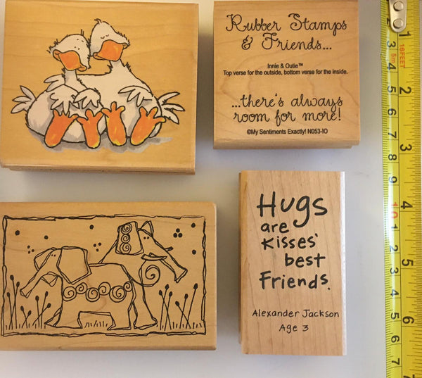 Friends 2 - Rubber Stamp set
