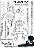 Batteries not included - A5 unmounted rubber stamp sheet