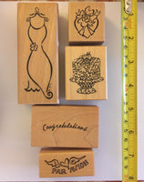 Dress 2 - Rubber Stamp set