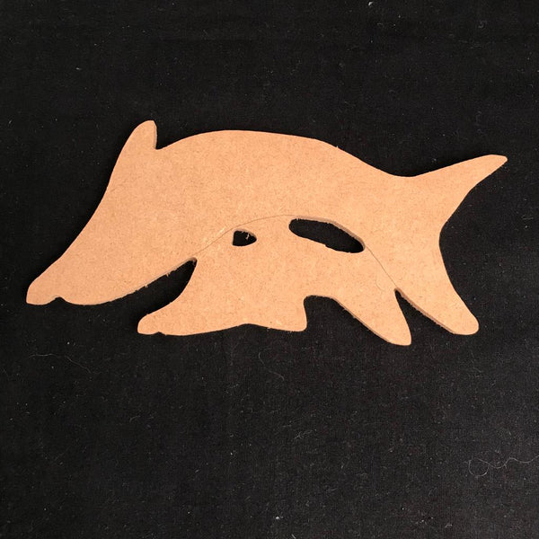 Dolphins Swimming - MDF