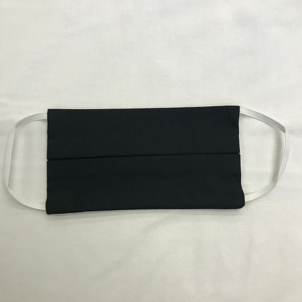 Plain Black 100% Cotton Facemask
