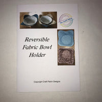 Reversible Fabric Bowl Holder Sewing Kit - Blue / Rose multi