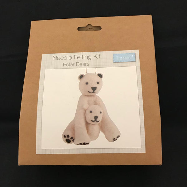 Needle Felting Kit- Polar Bears TCK010