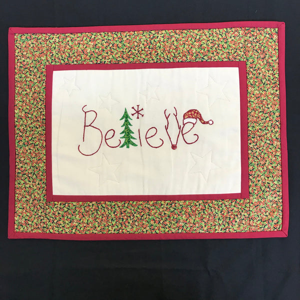 Believe- Christmas wallhanging kit