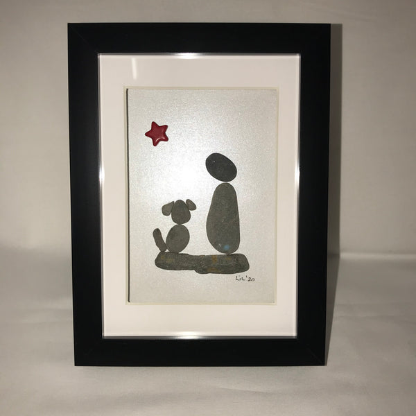 Me and My Dog- Pebble Art Pictures