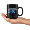 Glacier National Park Grizzly Bear Black Coffee Mug - TSUNRISEBEY