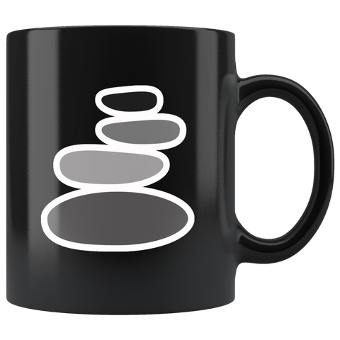 Stacked Rocks Rock Cairn Gravity Glue Coffee Mug - TSUNRISEBEY