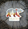 Glacier National Park Grizzly Bear Vinyl Sticker - TSUNRISEBEY