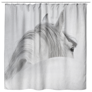 White Horse Shower Curtain for the Bathroom - TSUNRISEBEY